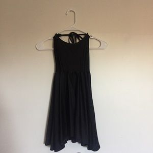 American Apparel Black Halter Skater Dress S
